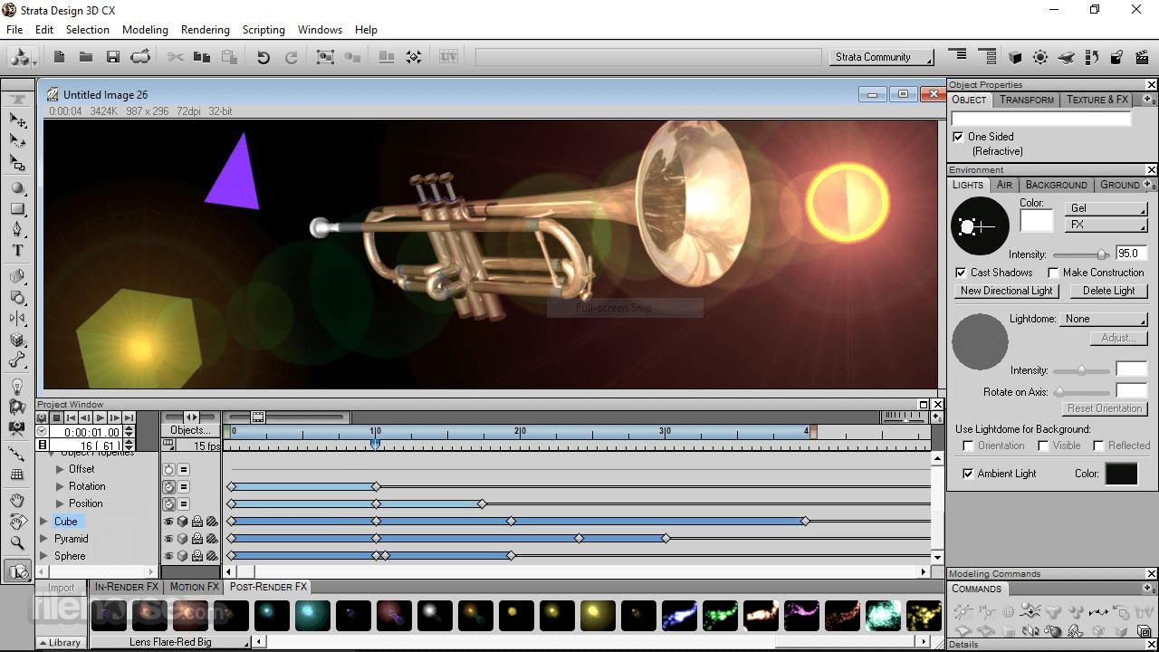 Strata Design 3D CX 8.0 Screenshot 4