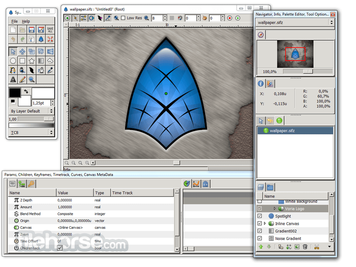 Synfig Studio 1.3.10 (32-bit) Captura de Pantalla 1