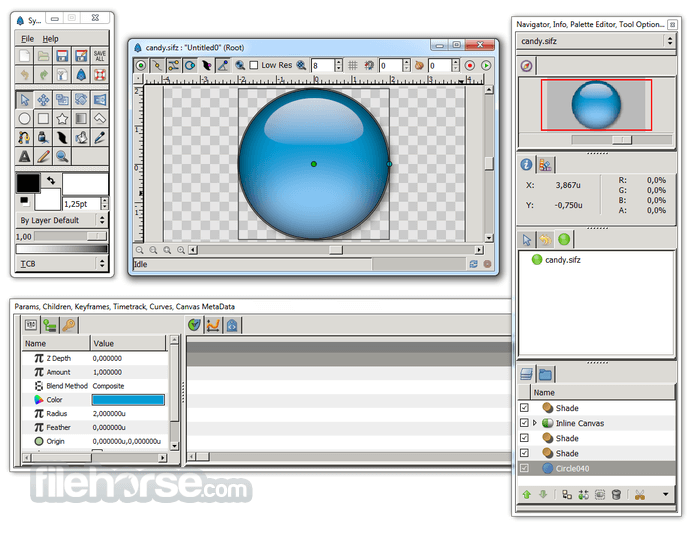 Synfig Studio 1.3.10 (32-bit) Captura de Pantalla 2