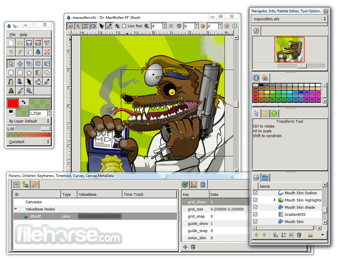 Synfig Studio 1.2.1 (32-bit) Screenshot 3