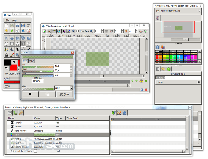 Synfig Studio 1.4.0 (64-bit) Screenshot 4