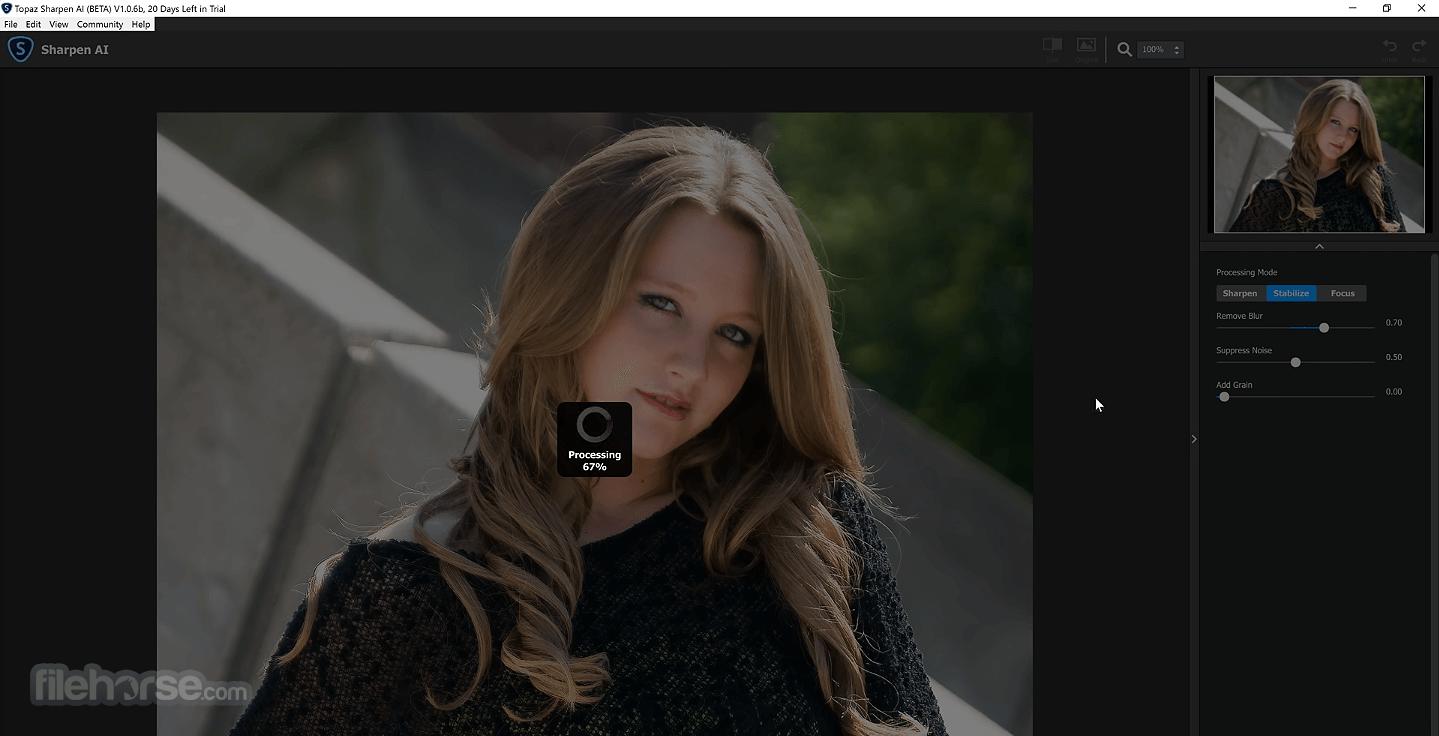 Topaz Sharpen AI 2.2.1 Screenshot 3