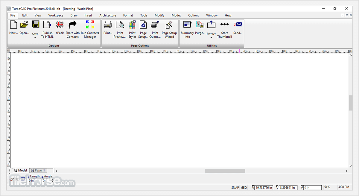 TurboCAD Deluxe 2020 (32-bit) Screenshot 1