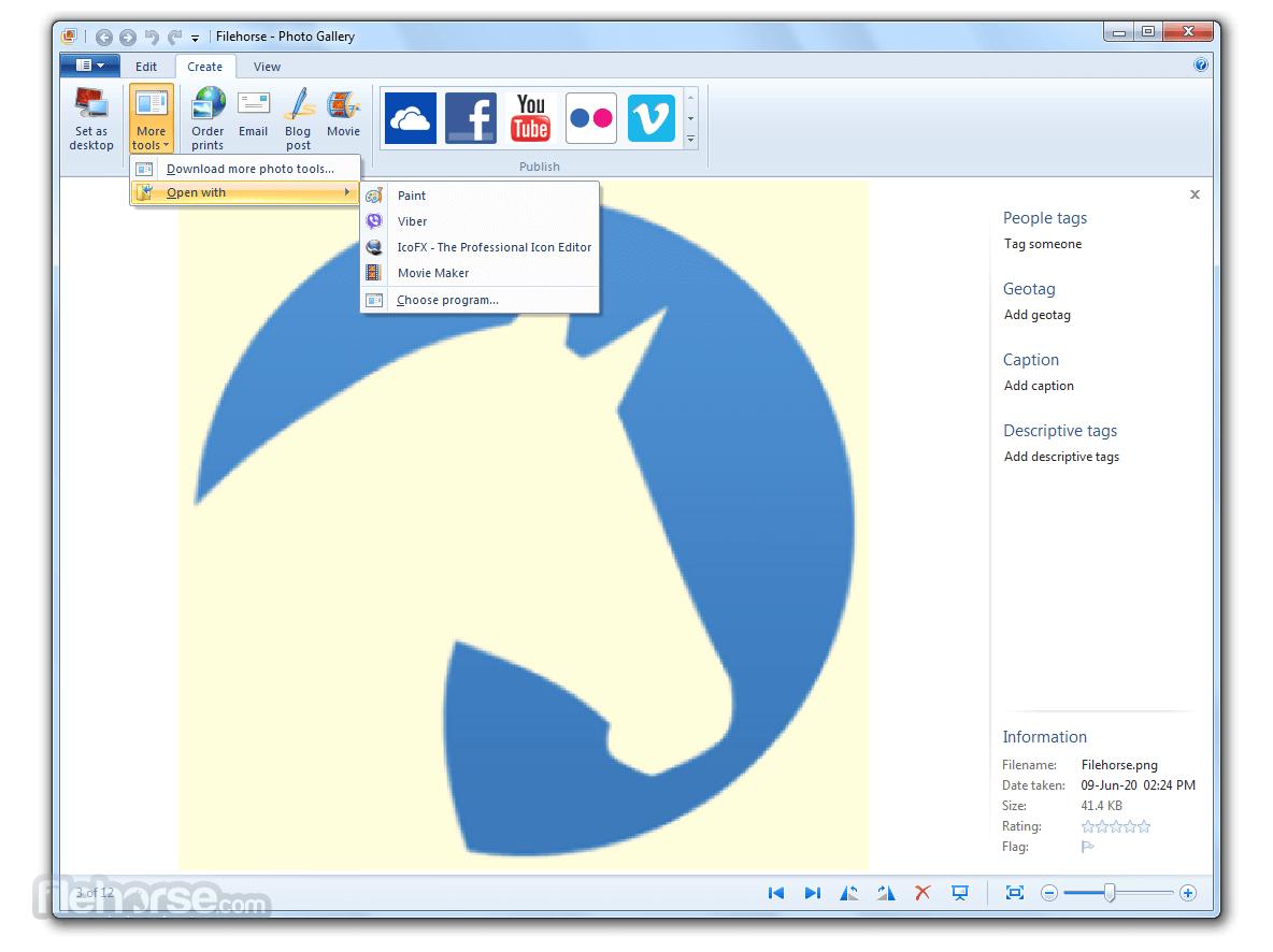 Windows Photo Gallery 16.4.3528.331 Captura de Pantalla 3
