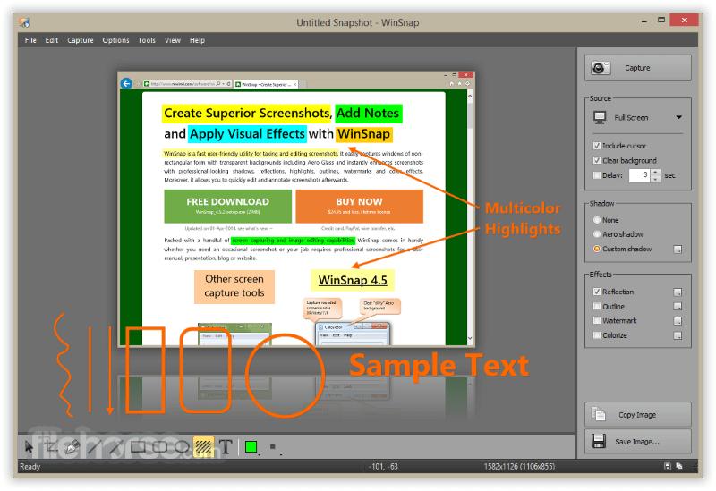 WinSnap 4.6.0 Captura de Pantalla 1