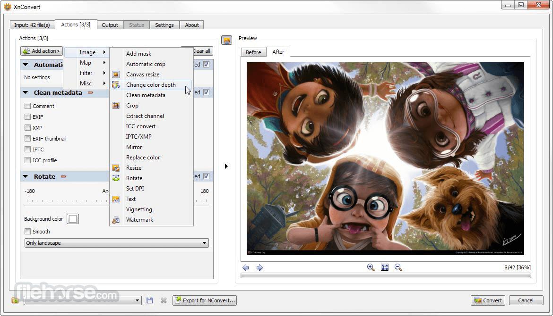 XnConvert 1.76 (32-bit) Captura de Pantalla 1