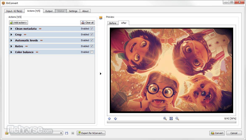 XnConvert 1.76 (32-bit) Captura de Pantalla 2