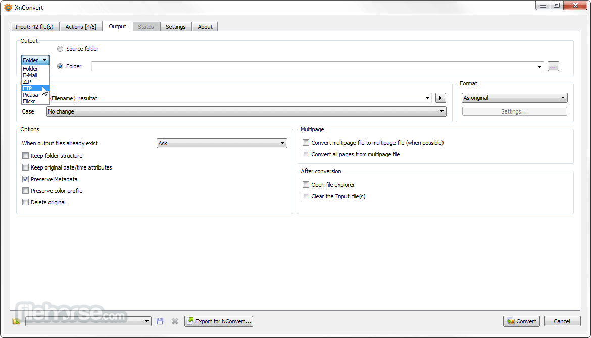 XnConvert 1.76 (64-bit) Screenshot 3