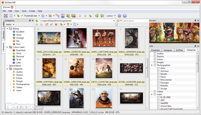 XnView MP 0.98.3 (32-bit) Captura de Pantalla 1