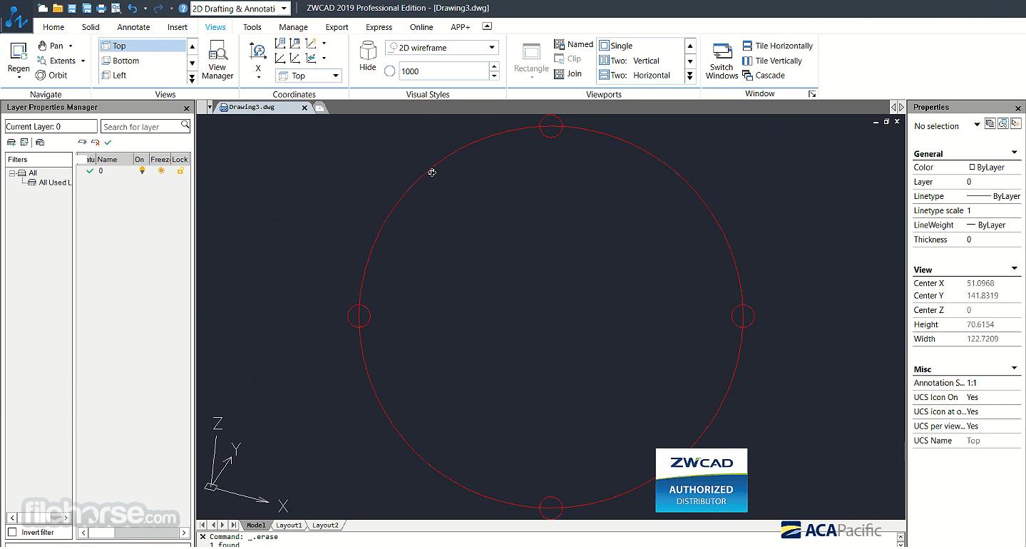 ZWCAD 2021 SP2 (32-bit) Captura de Pantalla 1