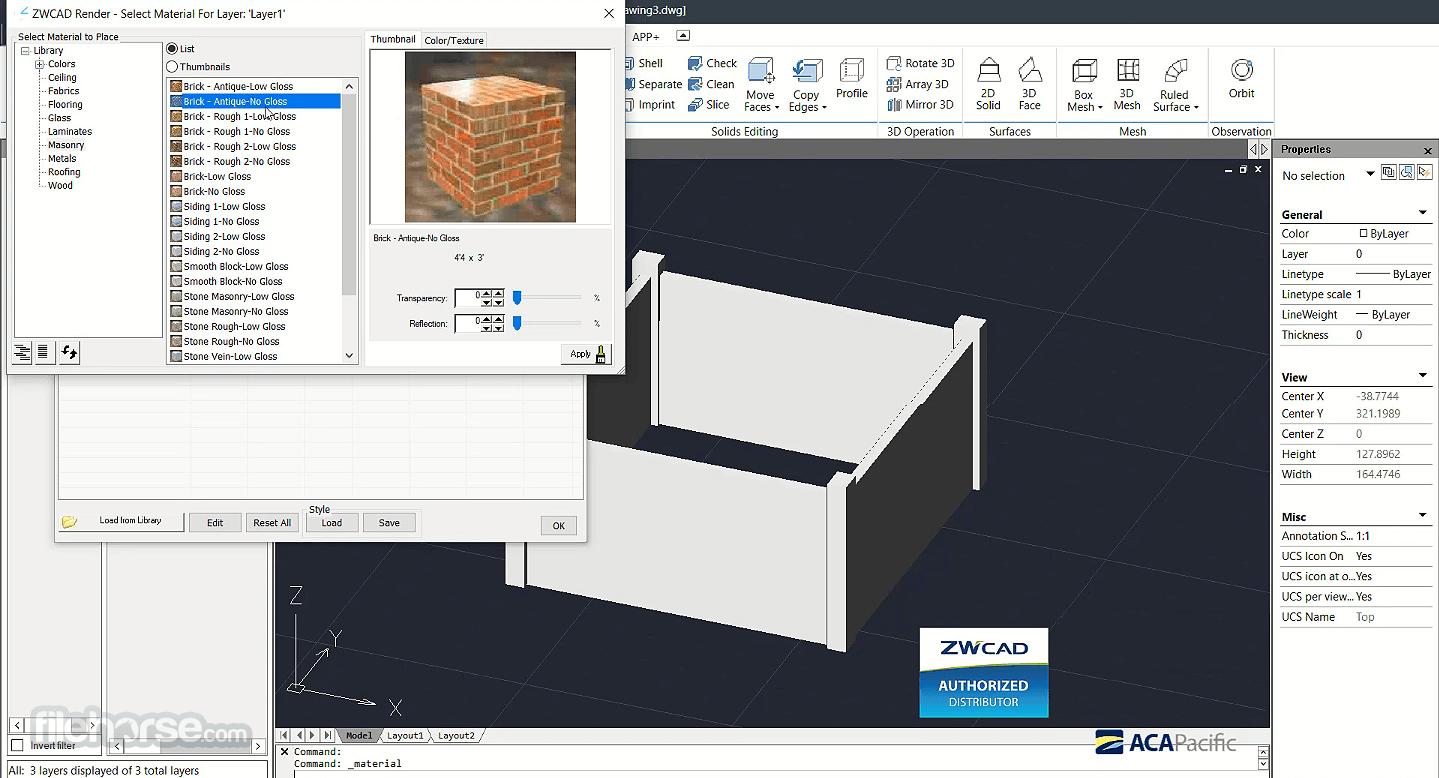 ZWCAD 2021 SP2 (32-bit) Captura de Pantalla 3