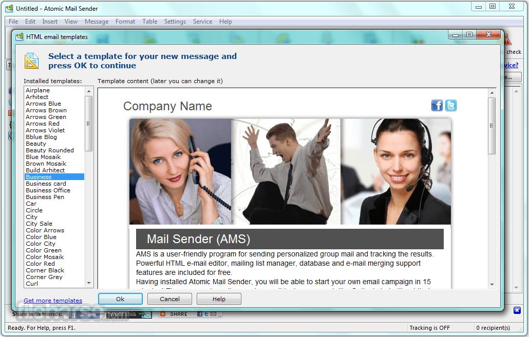 Atomic Mail Sender 9.44.0.445 Screenshot 1