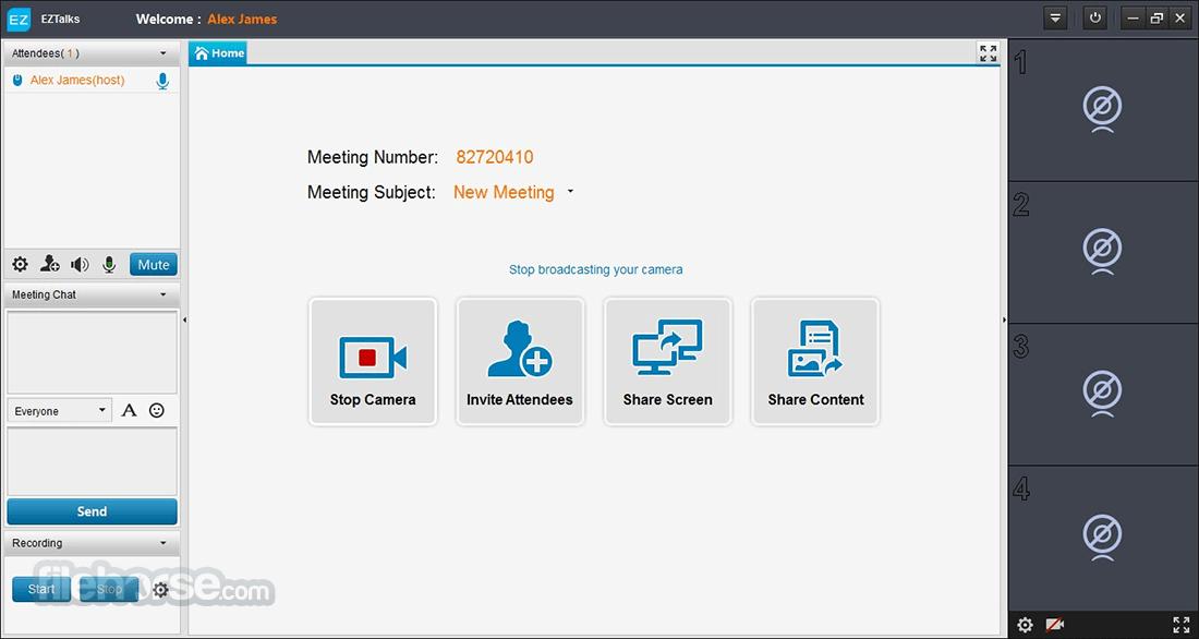 ezTalks 3.4.4 Screenshot 1