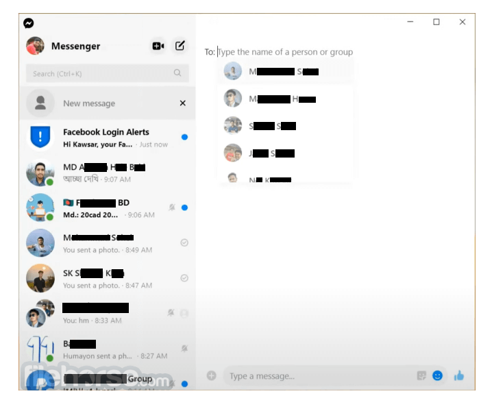 Facebook Messenger 2.1.4814 Captura de Pantalla 1
