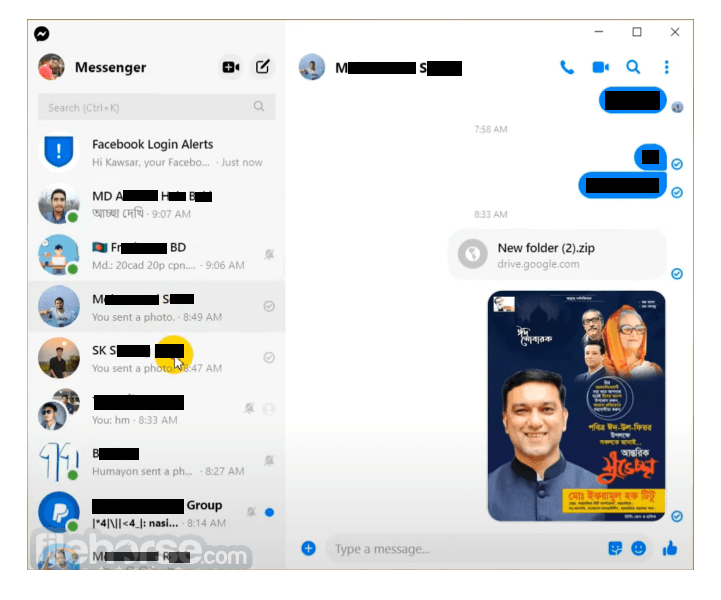 Facebook Messenger 2.1.4814 Captura de Pantalla 2