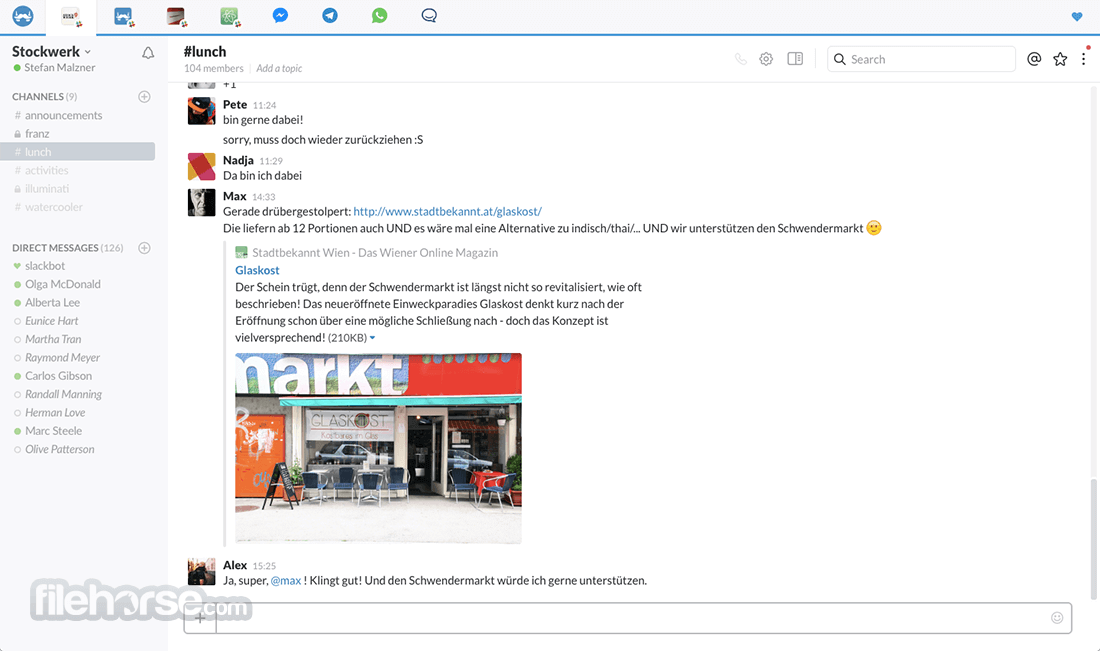 Franz 5.0.0 Beta 18 (32-bit) Screenshot 3