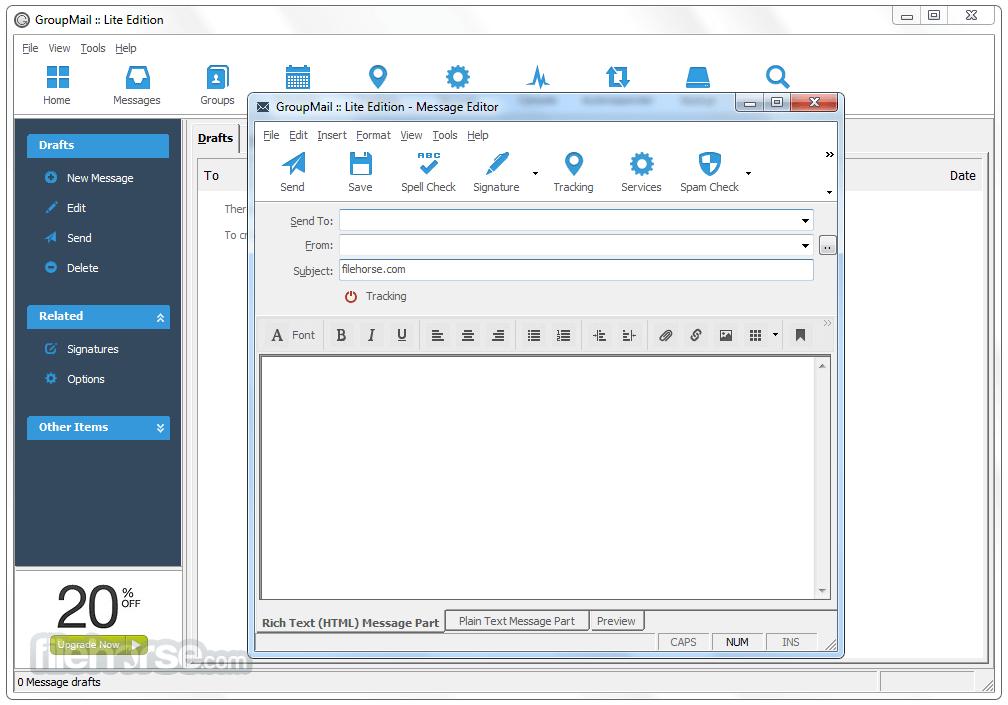 GroupMail Lite 6.0.0.59 Captura de Pantalla 2