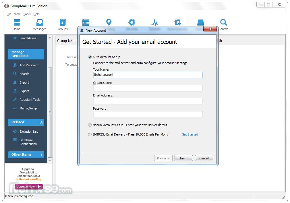 GroupMail Lite 6.0.0.59 Captura de Pantalla 4