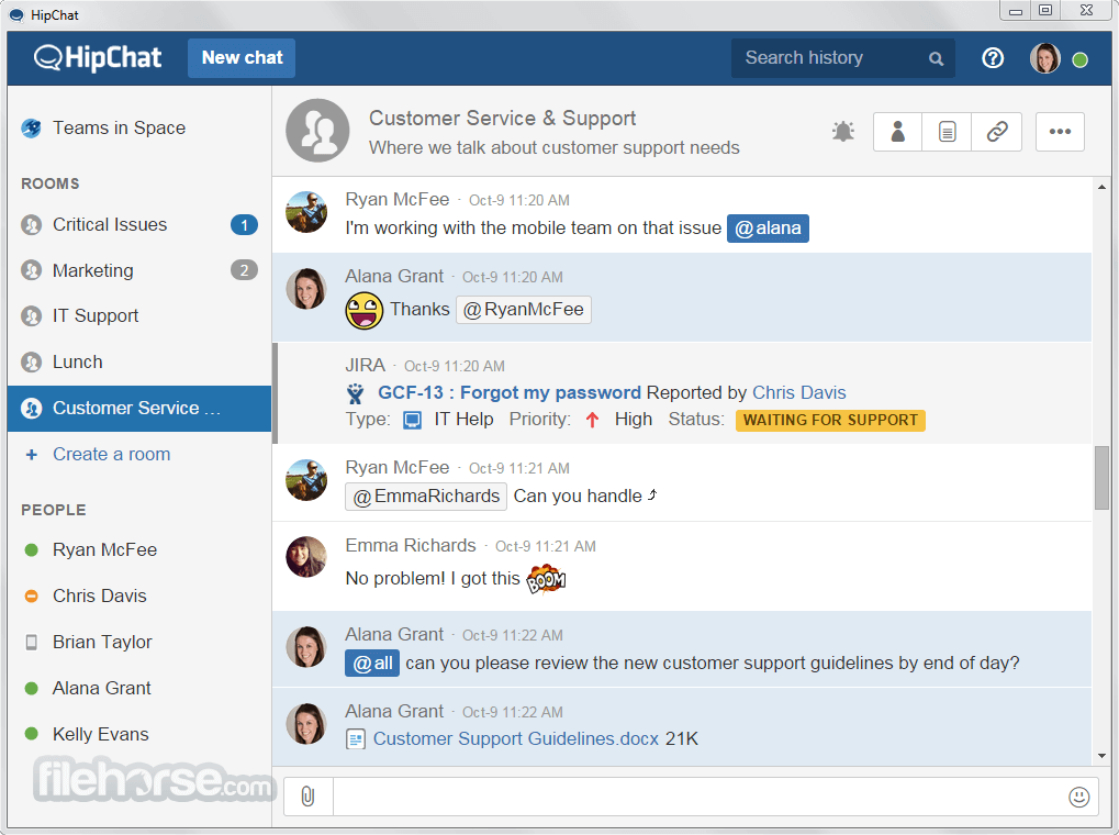 HipChat for Windows 4.30.6.1676 Screenshot 1