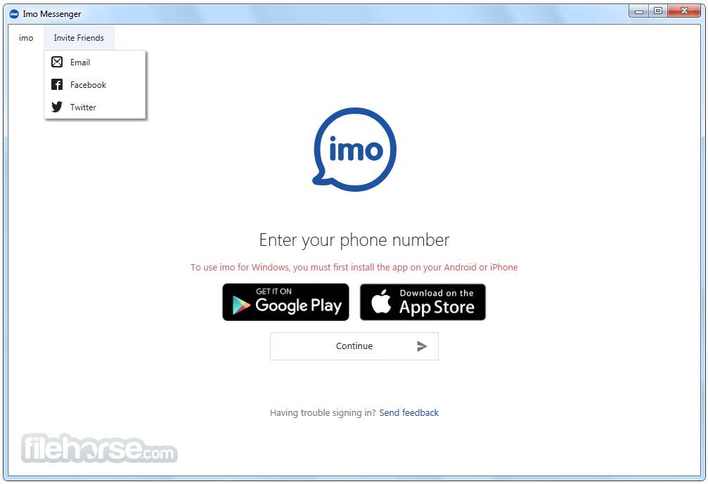 Imo Messenger for Windows 0.9.10 Screenshot 1
