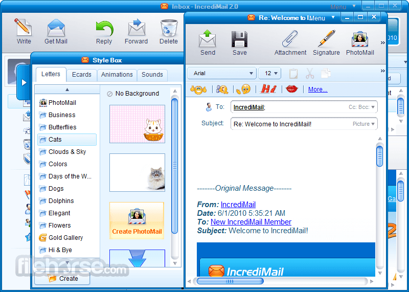 IncrediMail 2.5 Build 6605 Captura de Pantalla 2