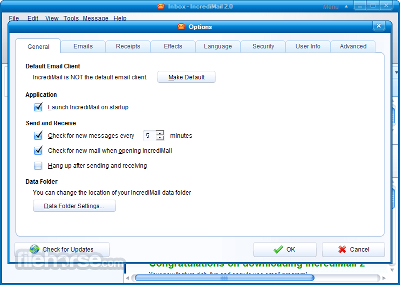 IncrediMail 2 Build 5274 Screenshot 3