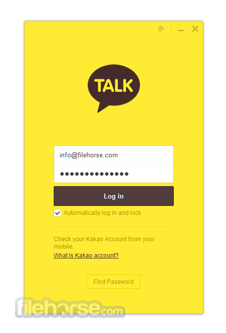 KakaoTalk for Windows 2.7.4.1975 Screenshot 1
