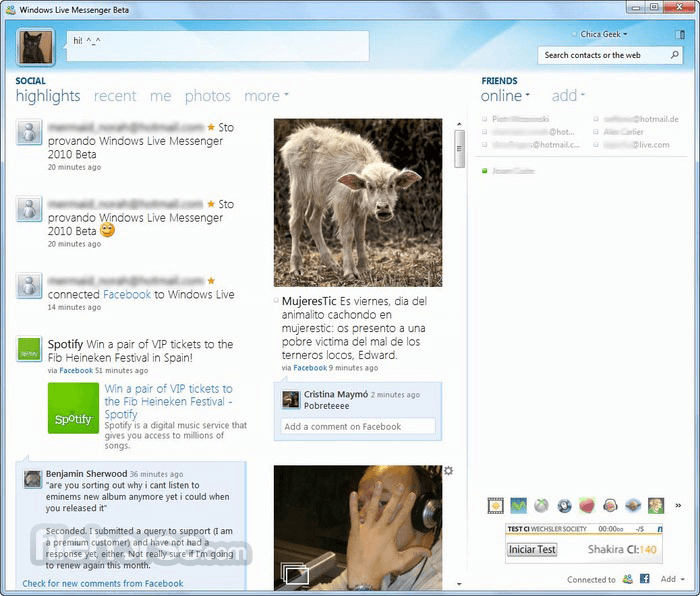 Windows Live Messenger 2012 (16.4.3528) Screenshot 3