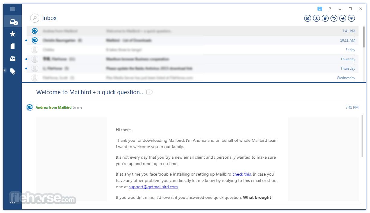 Mailbird Email Screenshots