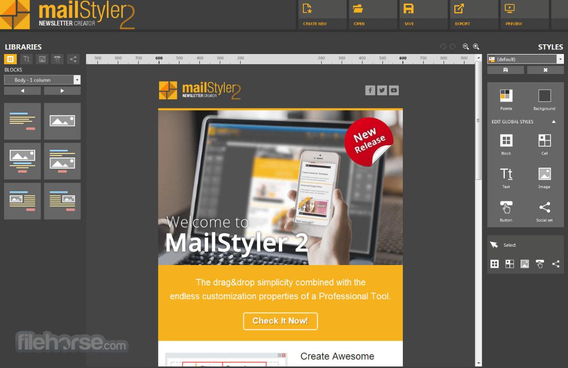 MailStyler 2.5.5 Screenshot 1