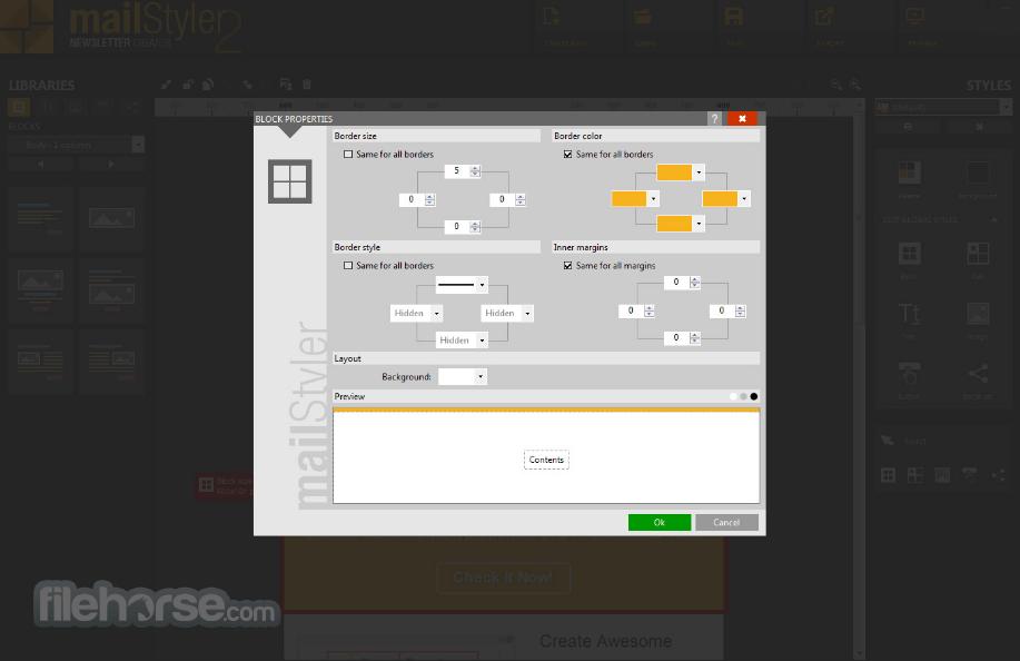 MailStyler 2.5.5 Screenshot 5