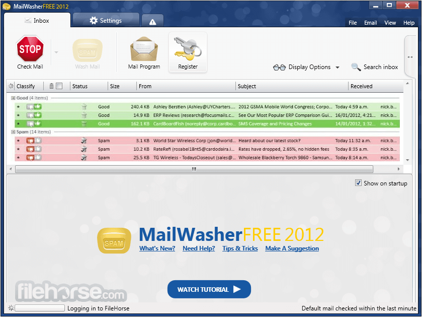 MailWasher Free 7.11.0 Captura de Pantalla 1