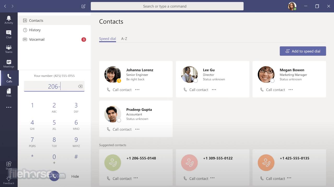 Microsoft Teams 1.3.00.15561 (32-bit) Screenshot 5