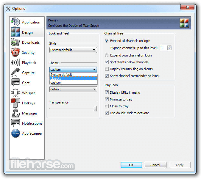 TeamSpeak Client 3.1.8 (32-bit) Screenshot 5