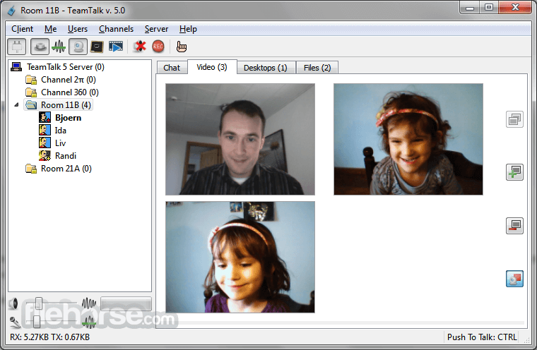 TeamTalk 5.3.2 Captura de Pantalla 2