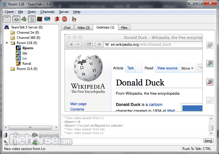 TeamTalk 5.3.1 Screenshot 3