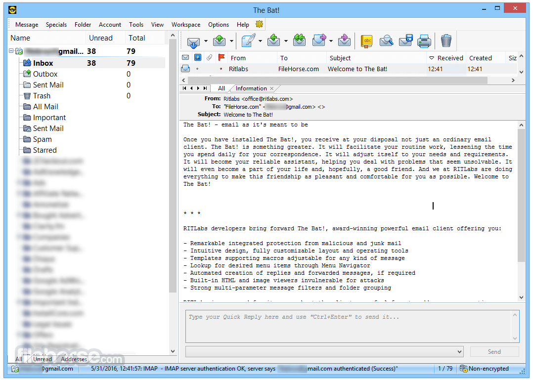 The Bat! Professional 8.3.0 (64-bit) Screenshot 1