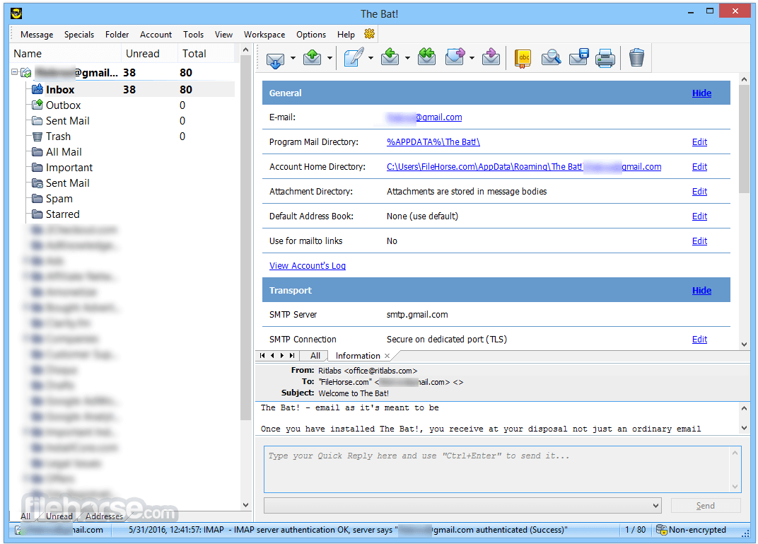 The Bat! Professional 8.3.0 (64-bit) Screenshot 2