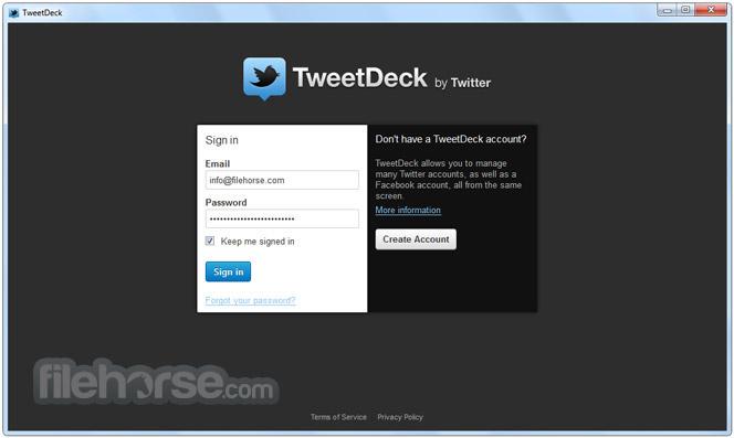 TweetDeck 3.3.8 Screenshot 1