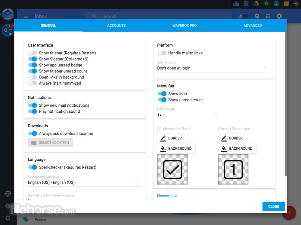 Wavebox 3.9.0 (32-bit) Screenshot 2
