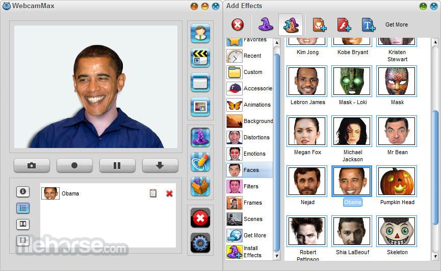WebcamMax 8.0.7.8 Captura de Pantalla 4