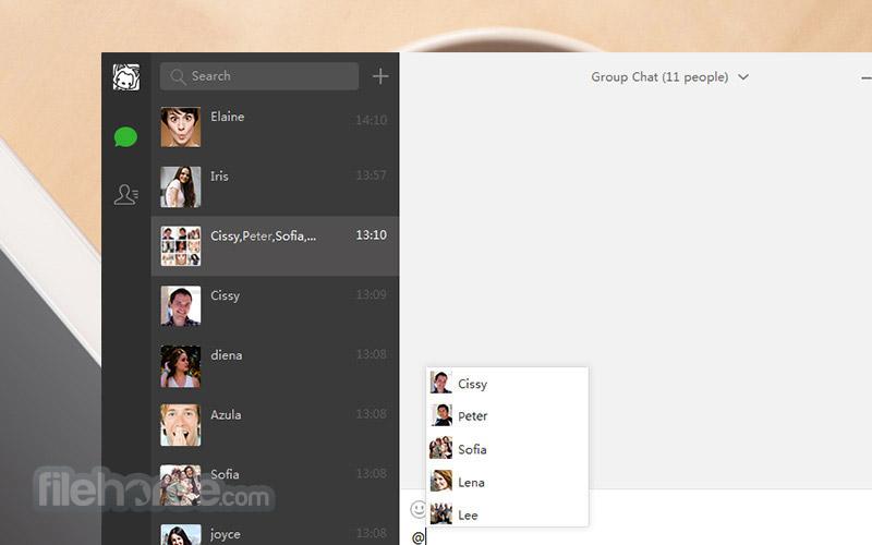 WeChat for Windows 2.6.1.75 Beta Captura de Pantalla 3