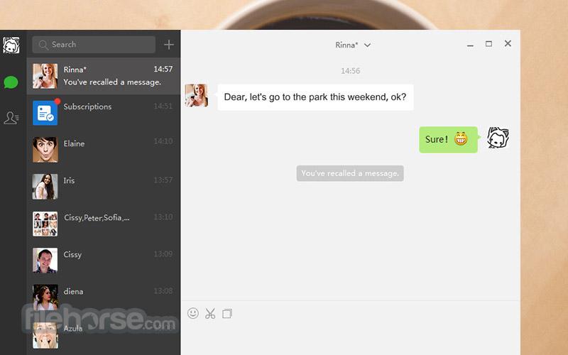 WeChat for Windows 2.6.1.75 Beta Captura de Pantalla 4