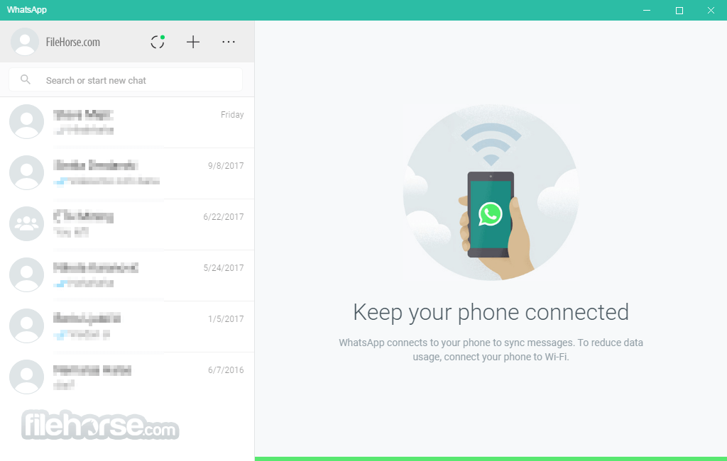 WhatsApp for Windows 0.2.8082 (64-bit) Captura de Pantalla 1