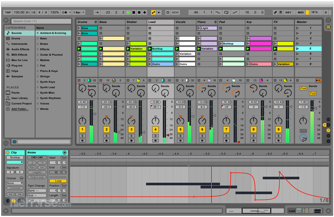 Ableton Live 9.7.5 (32-bit) Screenshot 1