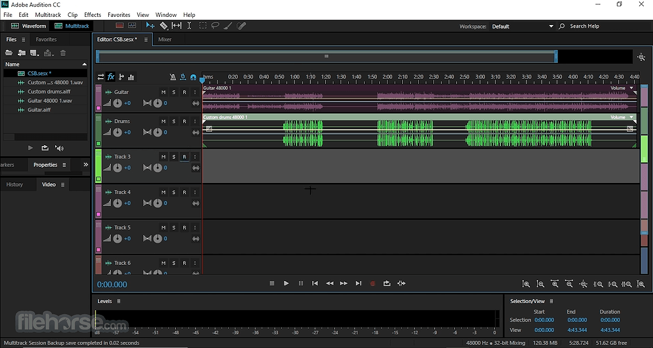 Adobe Audition CC 2020 Build 13.0.9.41 Screenshot 2