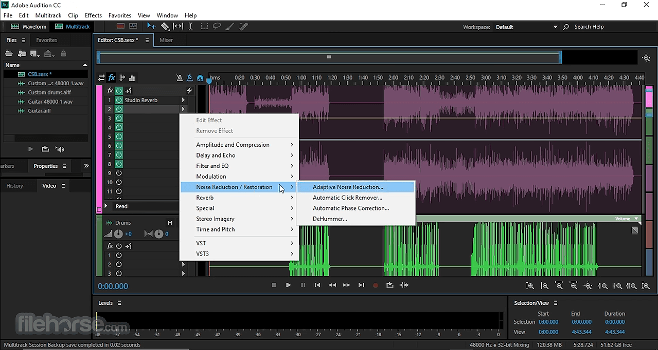 Adobe Audition CC 2020 Build 13.0.9.41 Screenshot 3