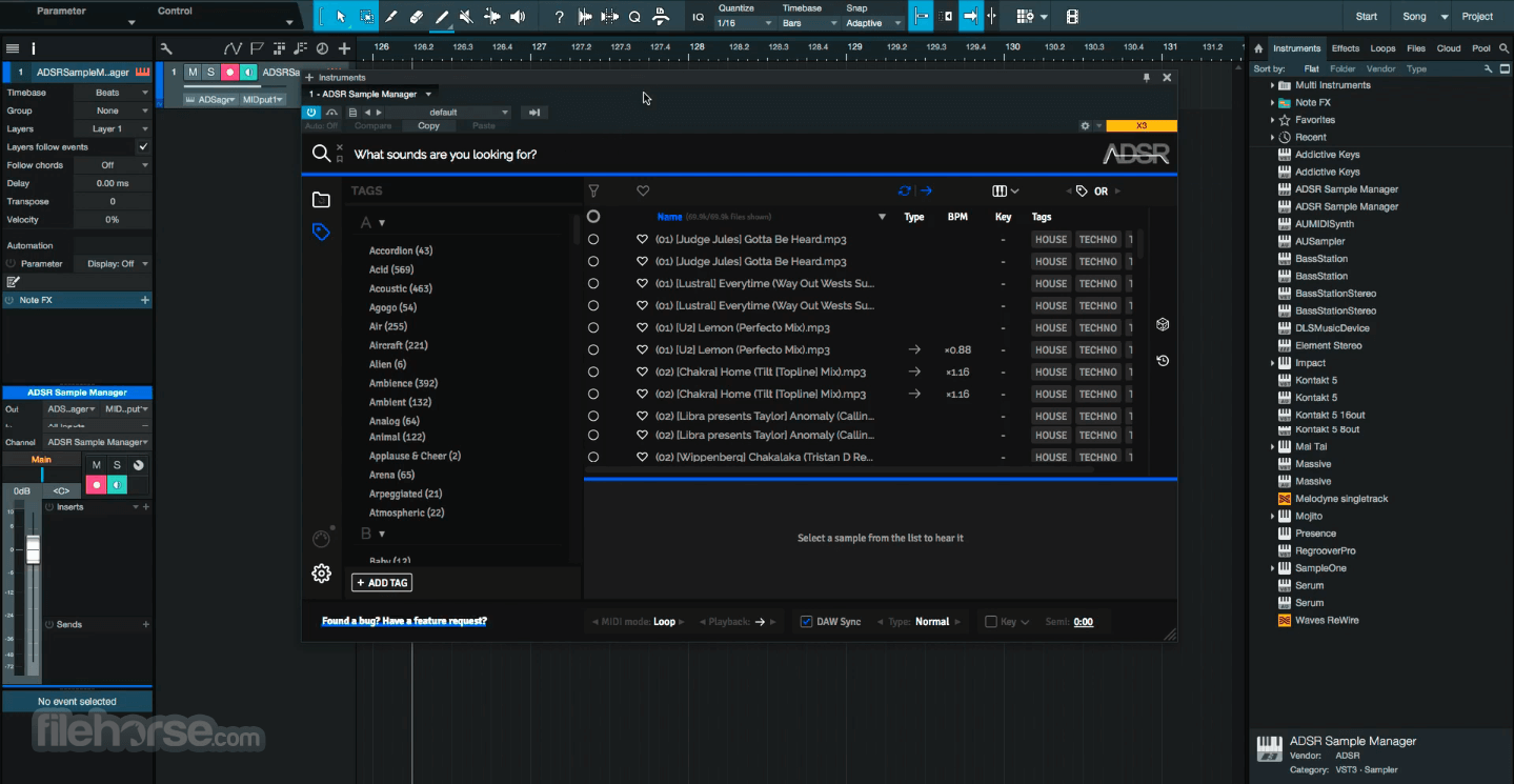 ADSR Sample Manager 1.51 Captura de Pantalla 2