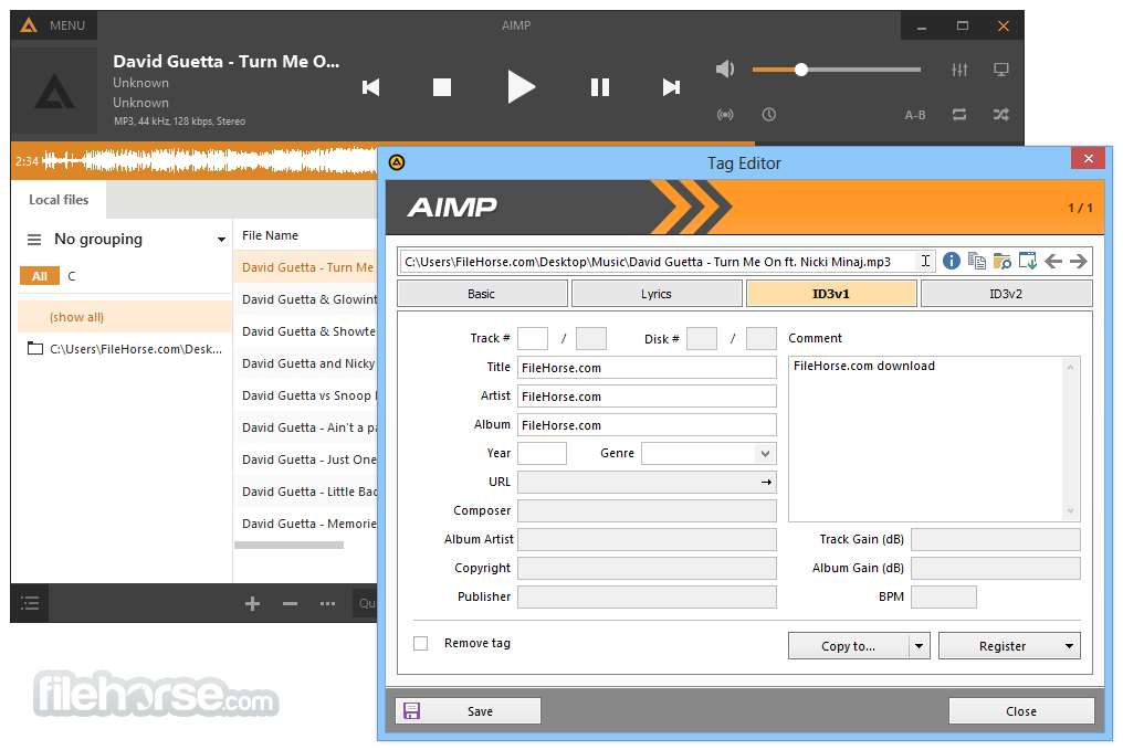 AIMP Portable 4.70 Build 2233 Screenshot 2