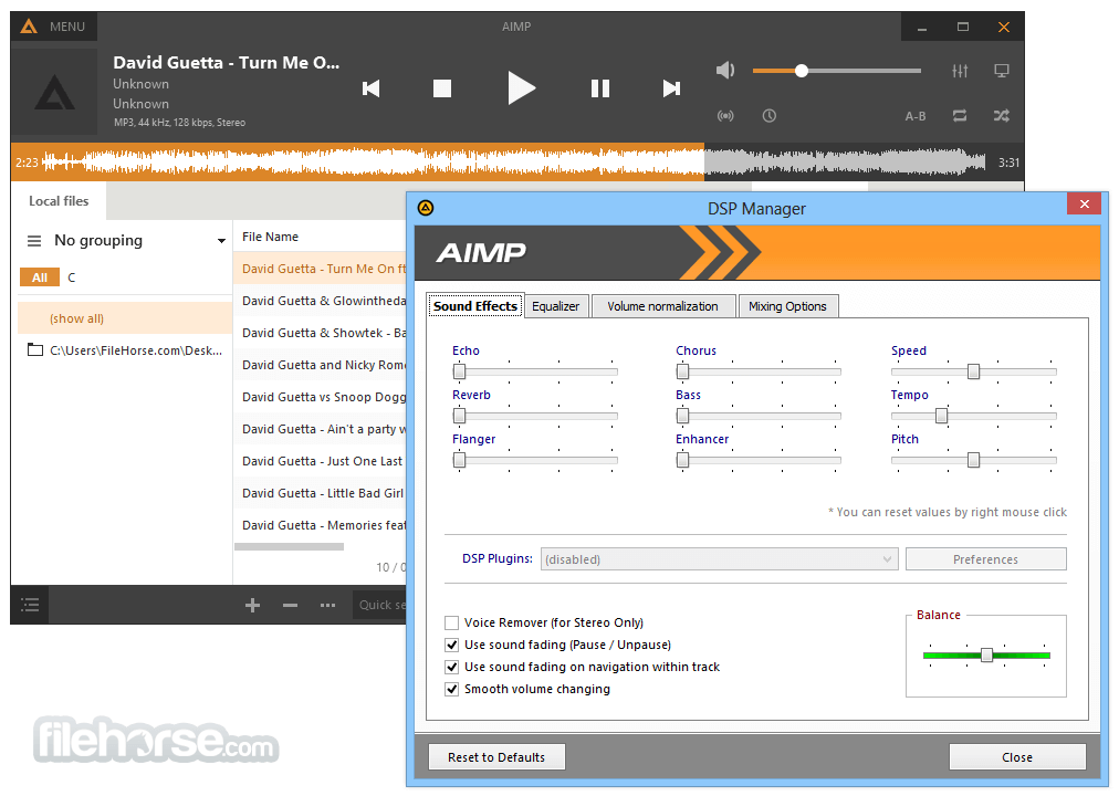 AIMP 4.51 Build 2080 Captura de Pantalla 3